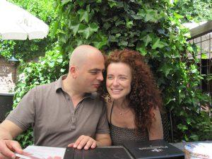 Kati und Adriaan im grünen